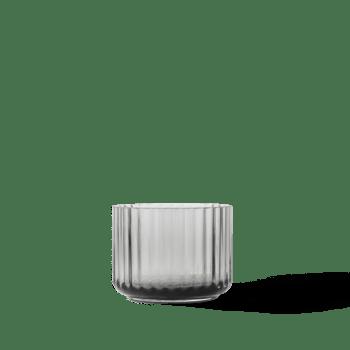 LYNGBY waxinelichthouder glas smoke theelichthouder grijs