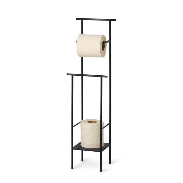 Dora toiletrolhouder zwart toilet paper stand