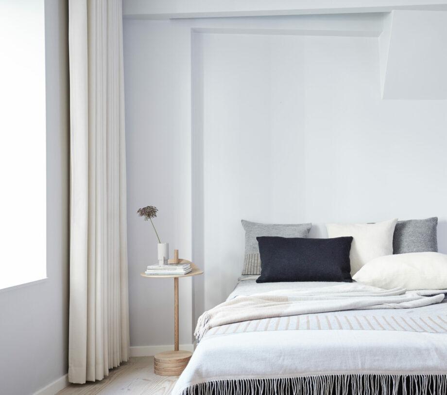 Form & refine Alpaca sierkussen aymara pattern grijs slaapkamer