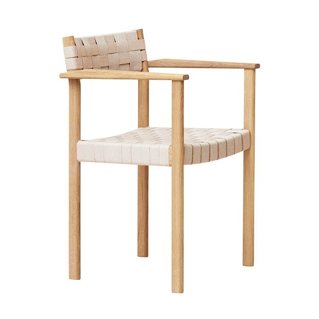 Form and refine Motif Armchair eetkamerfauteuil stoel naturel wit geolied eikenhout