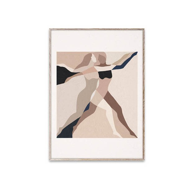 Paper Collective poster two dancers 30x40