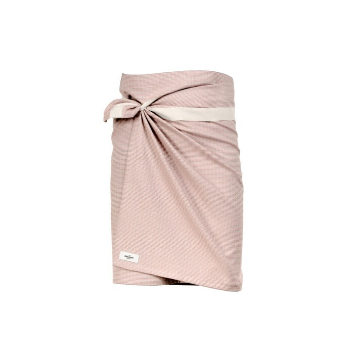 The Organic Company towel to wrap around you wikkel handdoek stone rose