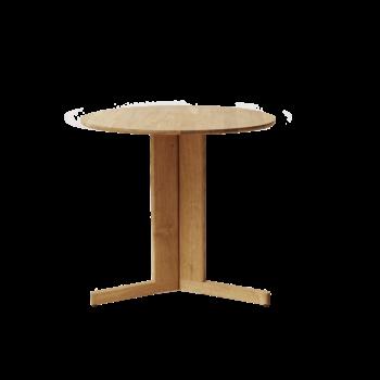 Form and Refine Trefoil Table rond naturel eiken