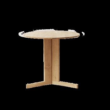 Form and Refine Trefoil Table rond wit eiken