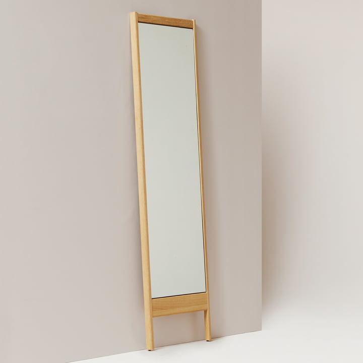 Form refine a line mirror spiegel 195 wit naturel eikenhout