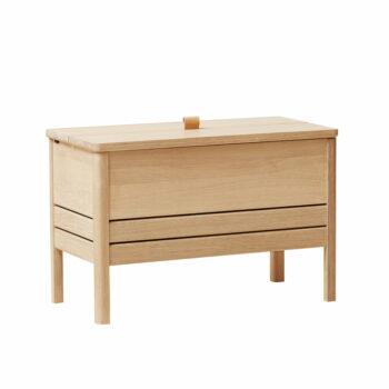 Form refine storage bench opbergbank 68 wit eiken geolied