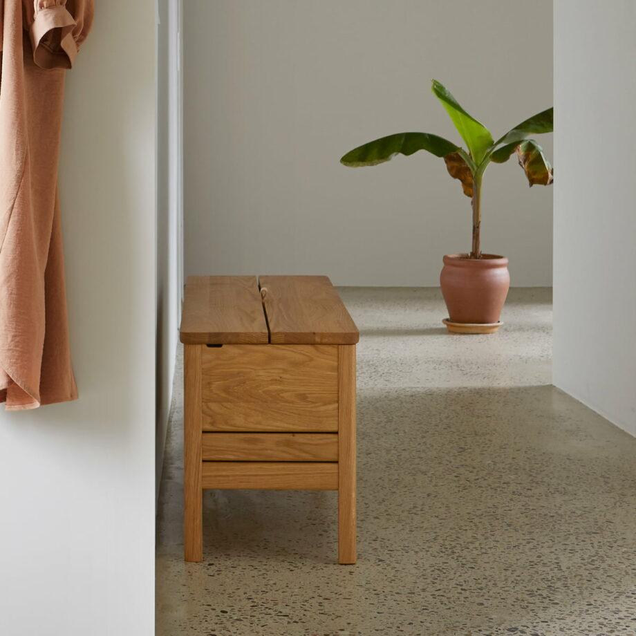 Form refine storage bench opbergbank 111 eiken