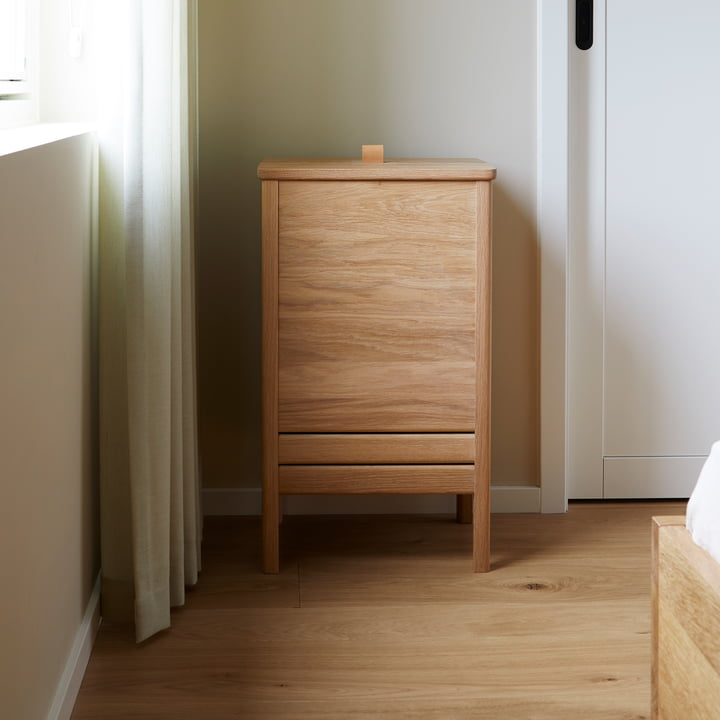 Form refine a line houten wasmand met deksel slaapkamer