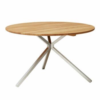 Form refine frisbee ronde tafel eikenhout chroom