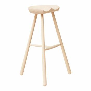 Form refine shoemaker chair 78 barkruk wit geolied beukenhout