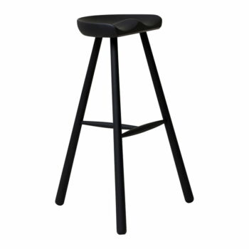 Form refine shoemaker chair 78 barkruk zwart gelakt beukenhout