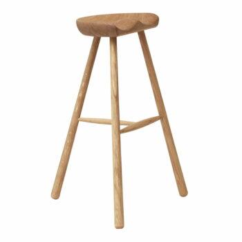 Form refine shoemaker chair 78 barkruk wit geolied eikenhout