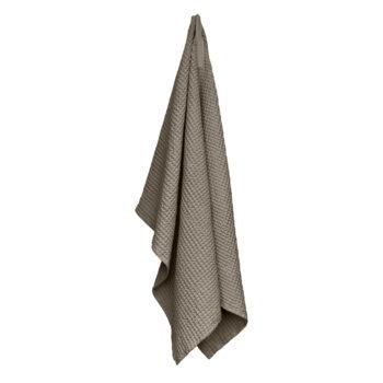 The Organic Company wafel handdoek gewafeld clay 150x100 cm