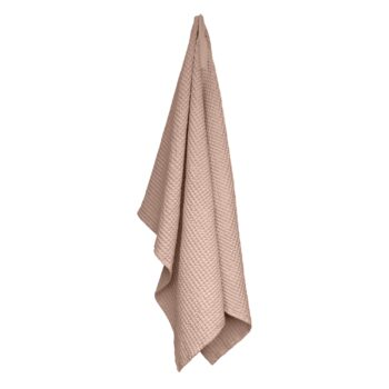 The Organic Company wafel handdoek gewafeld Pale rose roze 150x100 cm