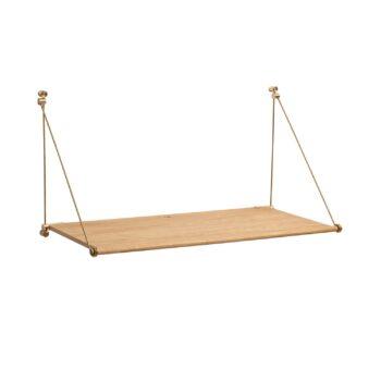 We Do wood wandbureau opklapbaar Loop desk eikenhout messing bureau