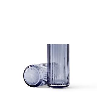 Lyngby glas vaas 20 cm midnight blue blauw