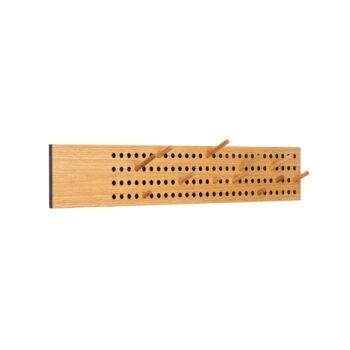 Horizontale Scoreboard kapstok we do wood eikenhout