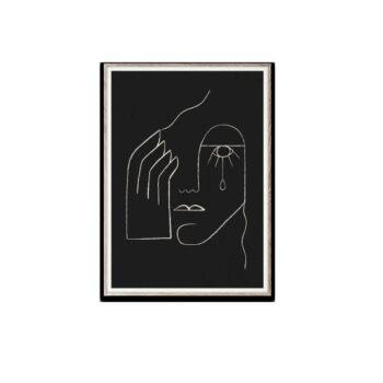 Paper Collective Single tear 30 x 40 zwarte poster Kit Agar