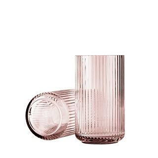 Lyngby vaas burgundy 25 cm glas