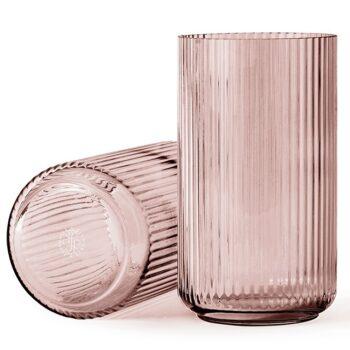 Lyngby vaas burgundy 38 cm glas