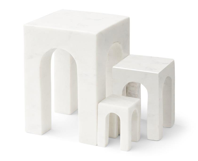 Gejst Design Arkis bookend boekensteun wit marmer