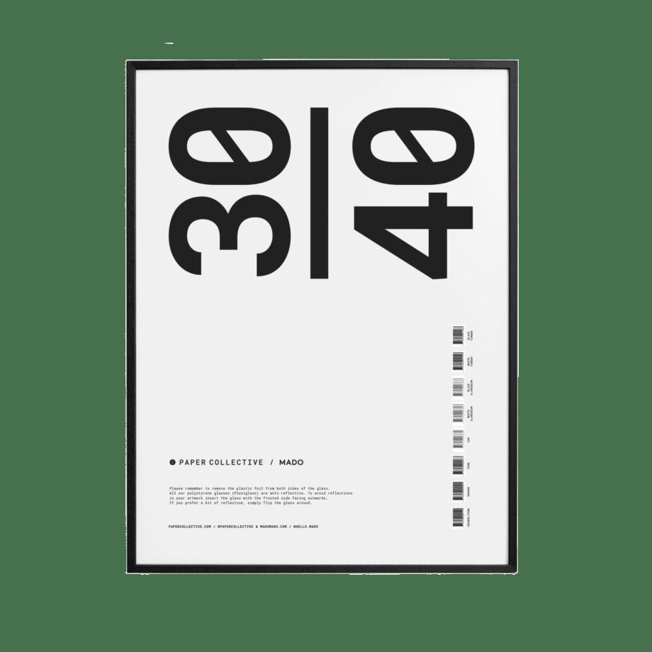 Posterlijst zwart hout antireflectie glas 30x40