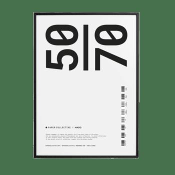Posterlijst zwart hout antireflectie glas 50x70