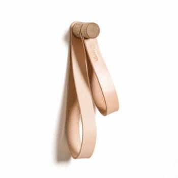 By wirth leren ophanglus double loop houder voor wc of keuken naturel eiken