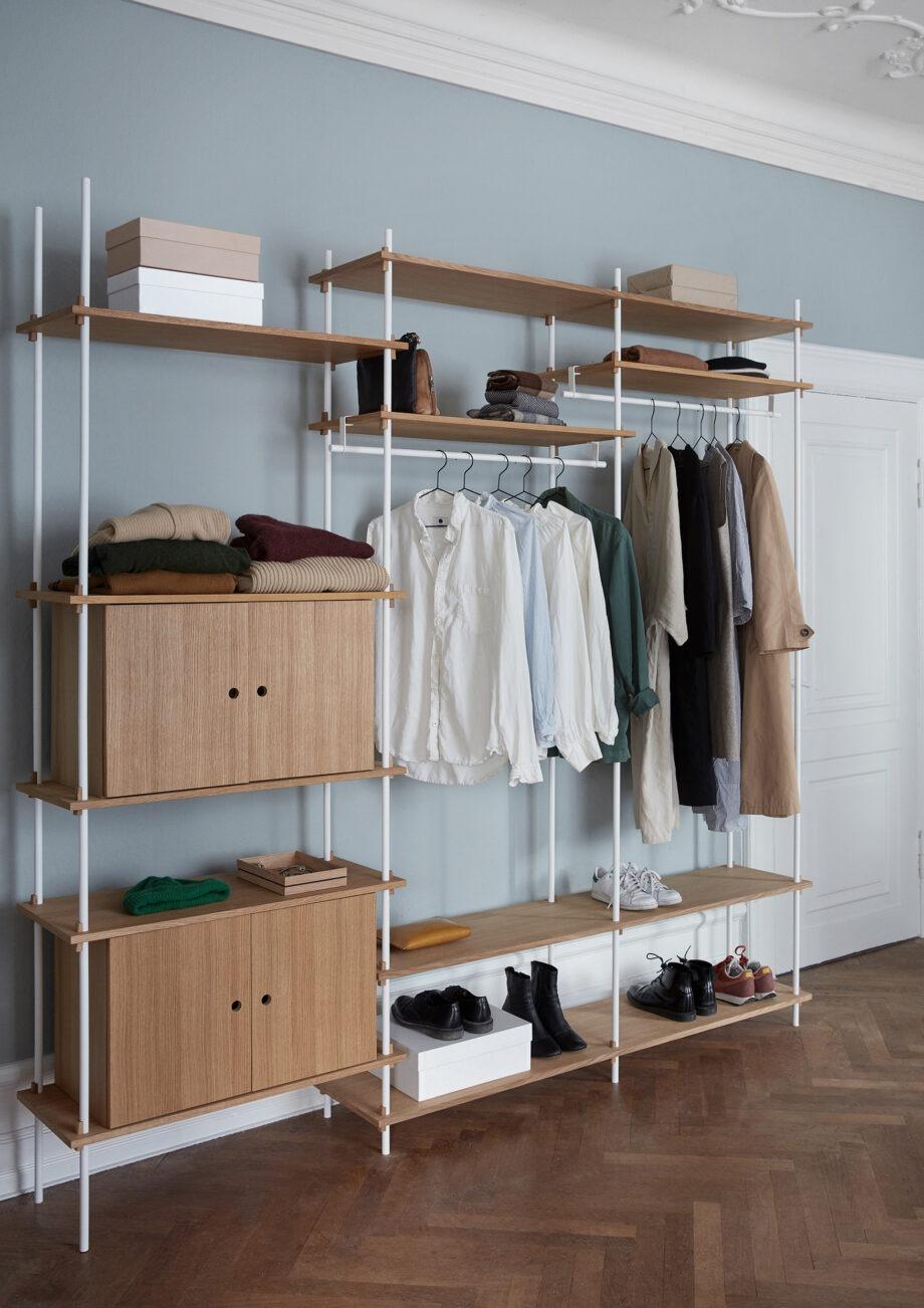Moebe kledingkast shelving system sfeer