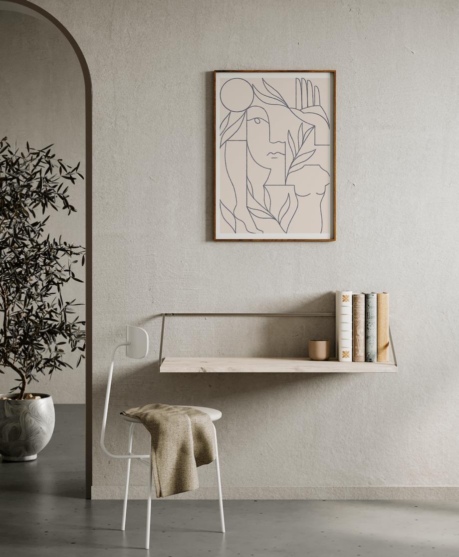 Eden Poster van Kit agar Paper Collective 50 x 70 cm