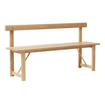 Form & Refine Position Bench zitbank wit geolied eikenhout voor 3 personen