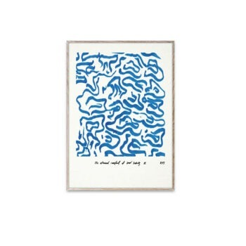 Paper Collective Blue Comfort poster 30 x 40 cm