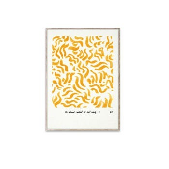 Paper Collective Comfort Yellow poster 30x40 cm