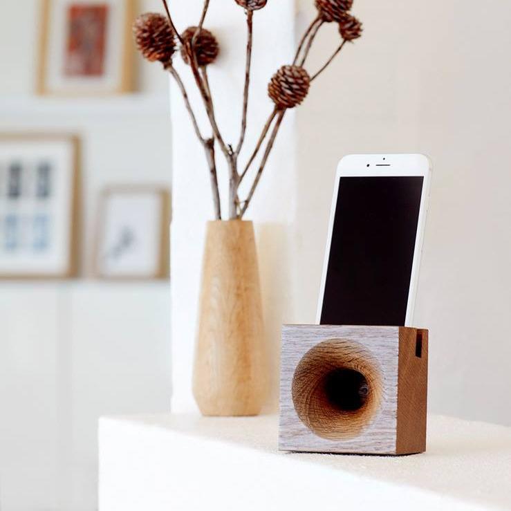 We Do wood Sono Ambra speaker gerookt eikenhout zonder bluetooth, wifi en kabels
